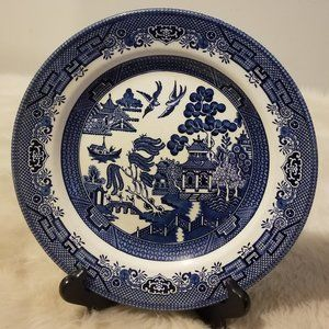Churchill Plate Blue Willow Made England Reprod.